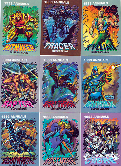 Marvel 1993 Annuals trading cards