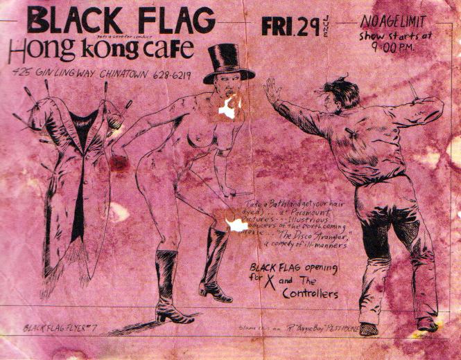 Raymond Pettibon flyer - note that it is labelled Black Flag Flyer #7