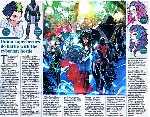 Times article on The Union from Marvel comics