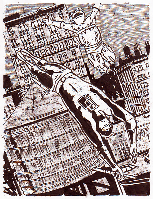 Daredevil and Frog-Man by Jonny Cannon